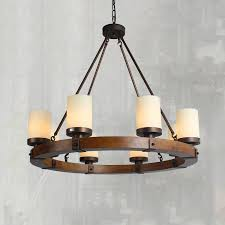 farmhouse round wood frame 6 8 10 light chandelier vintage kitchen pendant lamps