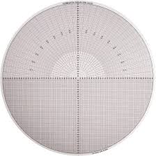 Made In Usa 14 Inch Diameter Grid And Radius Mylar Optical Comparator Chart And Reticle 01590579 Msc Industrial Supply