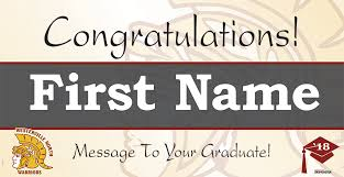 Westerville North High School Option C Grad Banners