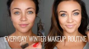 everyday winter makeup routine love how she says what each she s using