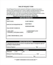 Printable Time Off Request Form Template Pdf – Juegame