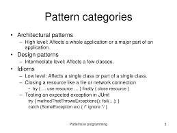 Design Patterns Categories Ppt Patterns In Programming Powerpoint Presentation Free