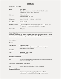 Sample Resume With No Experience Elegant Sample Resume For Bank How