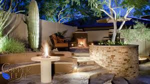 Scottsdale Backyard Design Scottsdale Backyard Landscape In Arizona Copper Leaf Pools