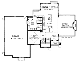 one story house plans large great room for 2 story great room house plans