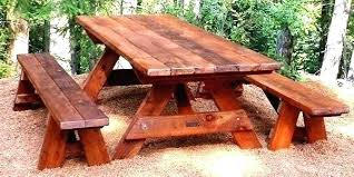 round wood picnic table wood picnic table picnic table with separate benches plans for building a round wood picnic table