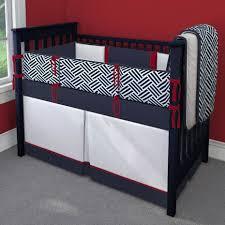 red white and navy blue nursery idea customizable crib bedding