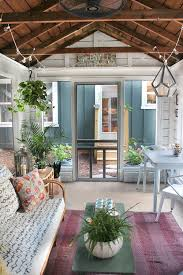 Eclectic Rustic Decor Modern Farmhouse Style In The Screened Porch A Giveaway Modern