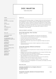 resume templates web developer resume templates 2019 free download resume io
