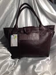 2016 dark chocolate brown leather tote handbag