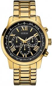 guess men s black dial yellow gold plated gay times £189 00 guess men s black dial yellow gold plated bracelet watch