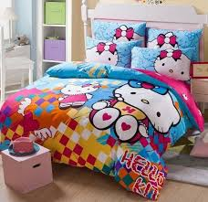kitty otoole elegant whimsical bedroom: new  unique hello kitty bedding set pc queen size cotton colorful rare