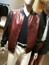 louis vuitton leather varsity jacket upscalehype