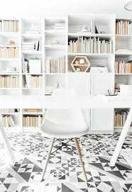 floor tiles bring geometric pattern to the home office design andrea mclean design office