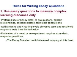 edu session writing supply items short answer and essay  rules for writing essay questions