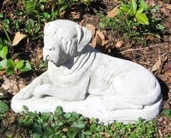 concrete mastiff dog statue or use as a