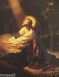 christ in the garden of gethsemane. Image Is Loading Jesus-Christ-Vintage-Painting-Poster-Jesus-in-the- Christ In The Garden Of Gethsemane