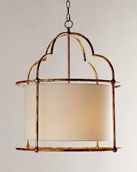 gold drum pendant light