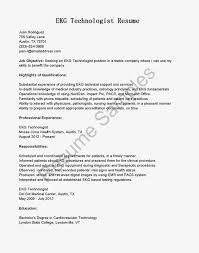 Cover Letter For Ekg Technician Position Resumes For Professional