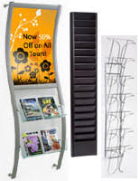 magazine rack wall mount: flyer holders hanging magazine racks flyer holders