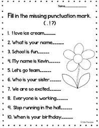 Punctuation Mark Worksheet By Firstie Friendzie Tpt