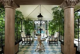 plants for sunrooms | Interior Designs Sunroom With Furniture And Tropical  Plants And ..