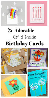 Diy Kids Birthday Card Homemade Birthday Cards For Kids To Create How Wee Learn