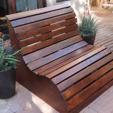 Cinder Block Bench With Back With Wood Bench And Outdoor Area And Pavestone  Flooring