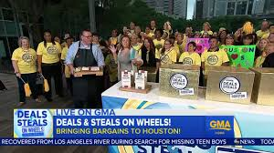 gma deals and steals on wheels tory johnson heads across the country abc13