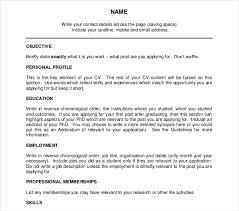 Academic Cv Template Academic Curriculum Vitae Cv Example