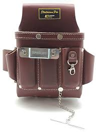 leather gold leather electrician tool pouch brown professional tool belt 3400 com