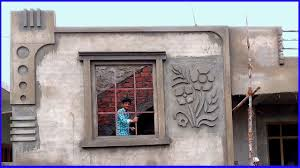 House Work Design Beautiful Design On Wall Sand And Cement Construction Work Front Elevation 2 Bedroom House