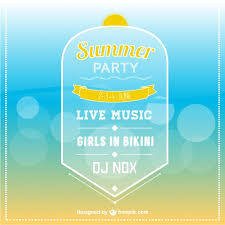 Party Invitation Images Free Summer Party Invitation Template Vector Free Download