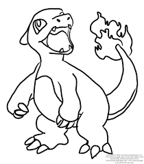 Small Picture Pokemon Coloring Pages Charmeleon Pokemon Coloring Pages Dltk Kids