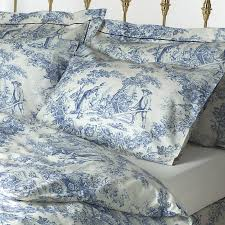bedding toile de jouy duvet covers with blue french toile cotton bedspread with regard to