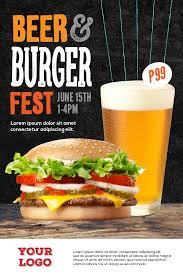 Burger And Beer Casual Dining Tent Card