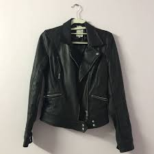 zara trf leather jacket women s fashion clothes outerwear on carou