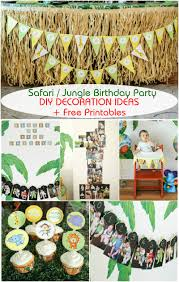 Jungle Theme Birthday Invitations Safari Jungle Themed First Birthday Party Part Iii Diy