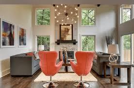 chandeliers in living room