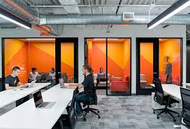 office by design. All Meeting Rooms Have A Strong Two-toned Paint Palette To Express The Sliced Carrot Which Is So Inherent Instacart Brand. Office By Design