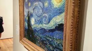 vincent van gogh original starry night detailed close up masterpiece