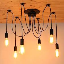 chandeliers edison light chandelier retro bulb vintage loft antique adjule art spider ceiling home depot