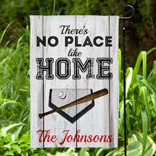 there s no place like home personalized baseball garden flag com