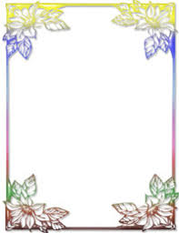 Background Templates For Microsoft Word Free Rainbow Floral Ms Word Stationery