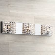 cesenna 3 light 25 1 2 wide crystal bath light vanity lighting fixtures com
