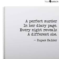 Murder Quotes Magnificent A Perfect Murder In Her D Quotes Writings By Rupam YourQuote