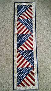 Best 25+ Quilted table runners ideas on Pinterest | Christmas ... & Stars and Stripes Americana Patriotic Quilted Table Runner by  Creationsbyweezie… Adamdwight.com