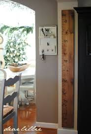 2x4 Ruler Growth Chart Ruler Growth Chart Use A 2x4 Stain It Stencil On