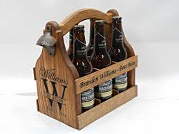 woodworking christmas gifts. Plain Christmas Wood Beer Tote Personalized Carrier  Christmas Gift Wedding Gift  Groomsmen Birthday Fathers Day Man Cave Throughout Woodworking Gifts
