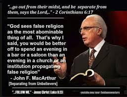 Christian Quotes John MacArthur Quotes False Religion Reformed Gorgeous John Macarthur Quotes